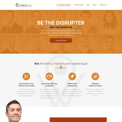 Website design for the Staffing Software Company