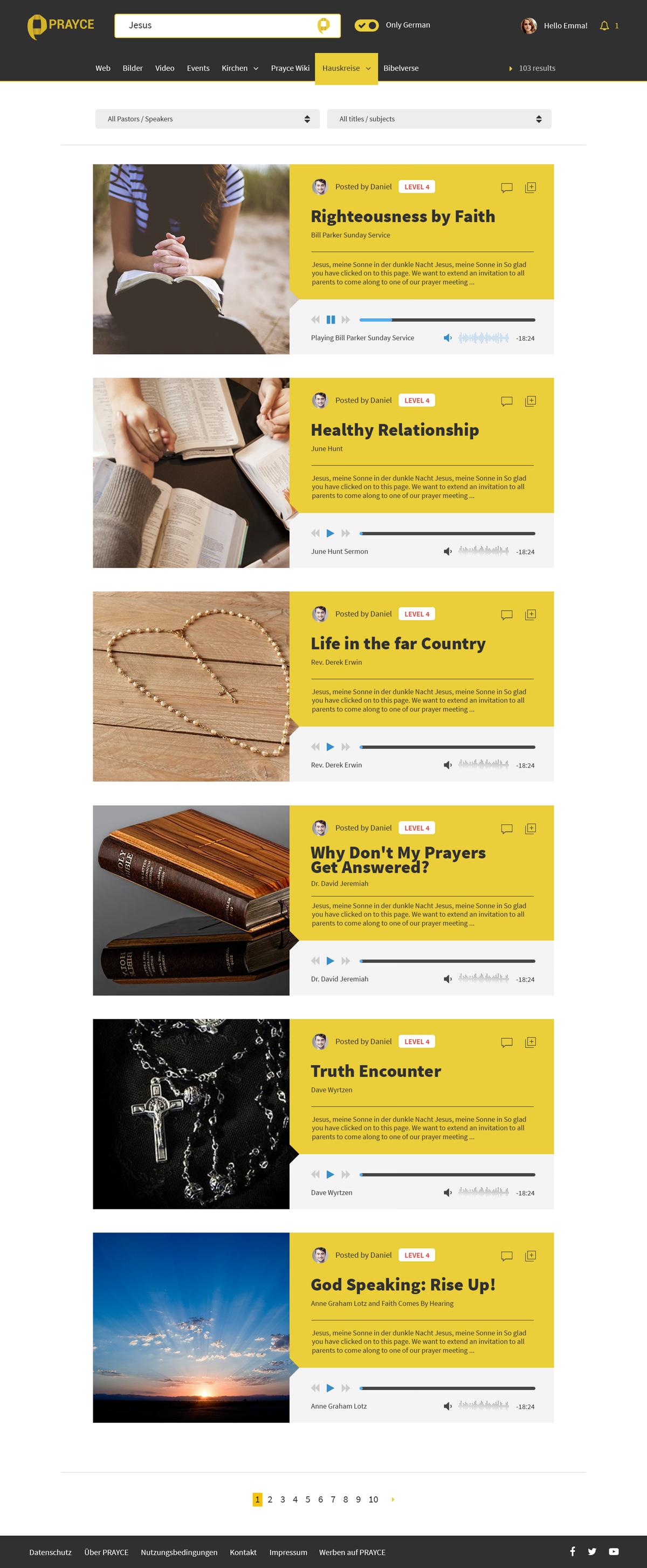 Further Webdesign of prayce.com/home