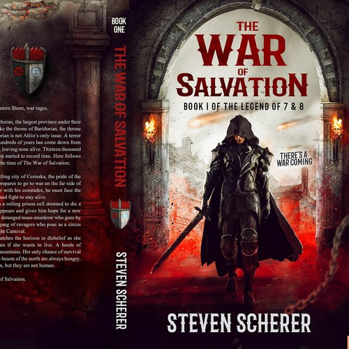 Book cover design THE WAR OF SALVATION