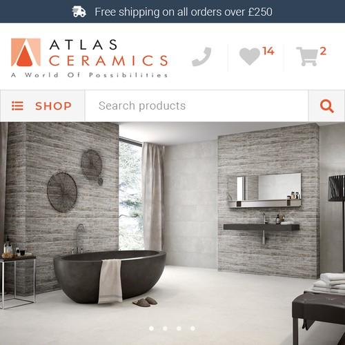 Mobile Website For Atlas Ceramics