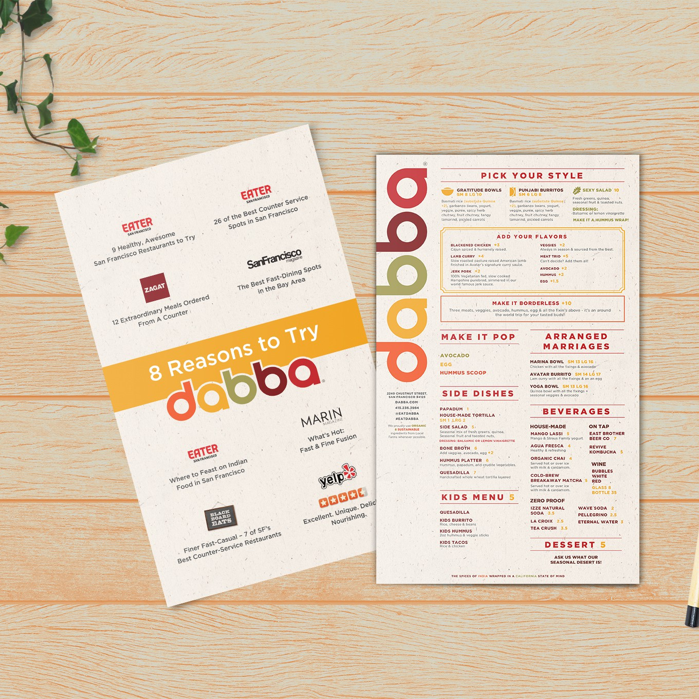 Popular Restaurant Menu Redesign