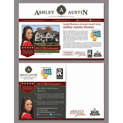 Create the next postcard or flyer for Ashley Austin Homes