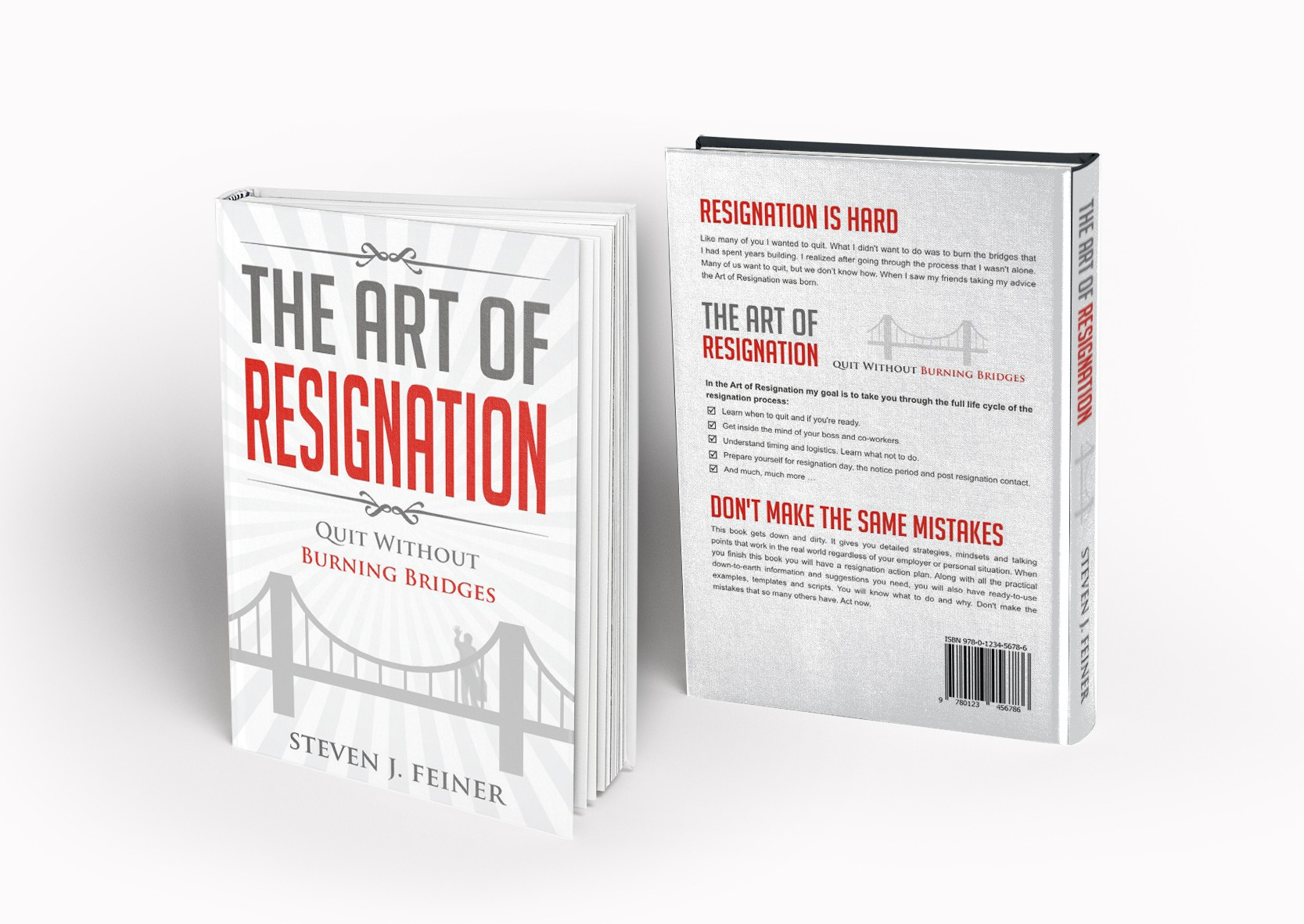 Create an eye grabbing book cover for a book on Quitting