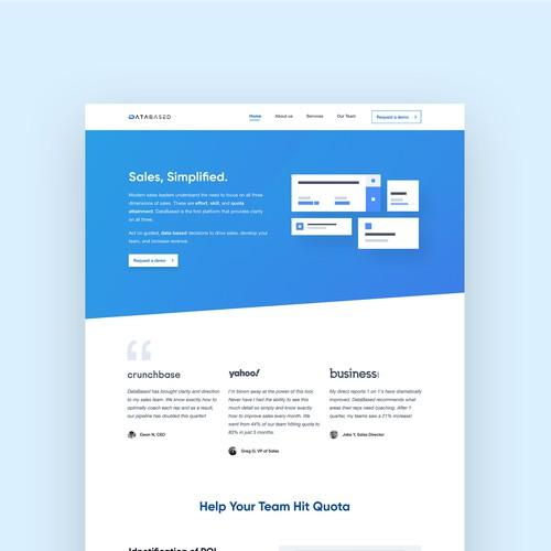 Landing page design for SaaS startup