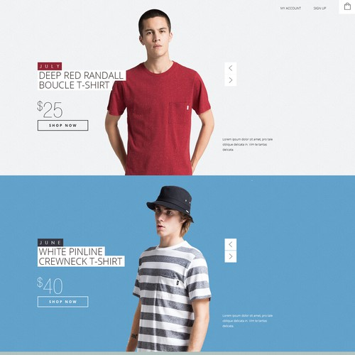 Ad Astra Clothing co Landing page