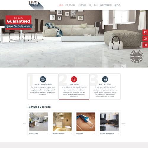 Tiler by Trade Landing page