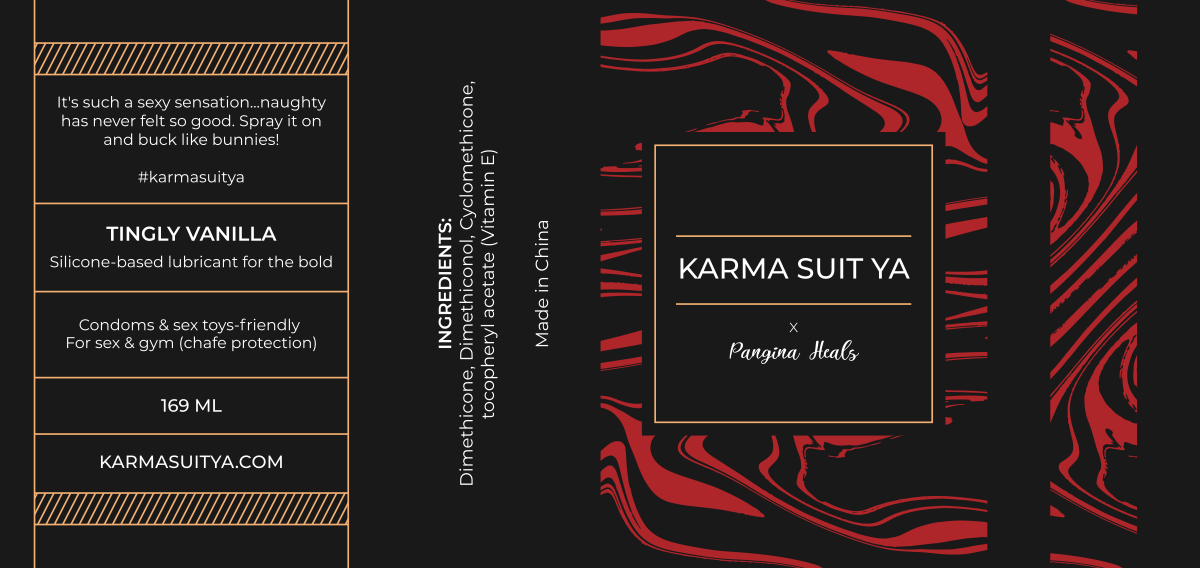 Front and back label for a lubricant spray