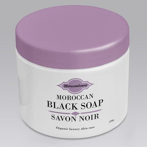 Moroccan Black Soap Label Design