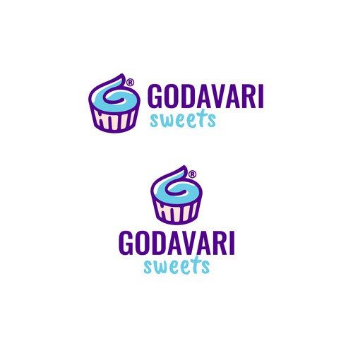 playful logo concept for desserts store
