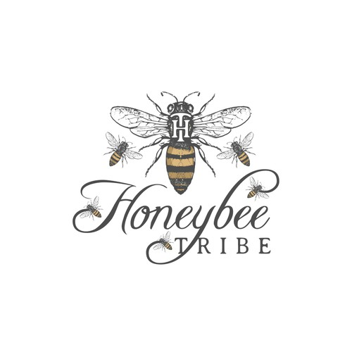 Vintage logo for honey products