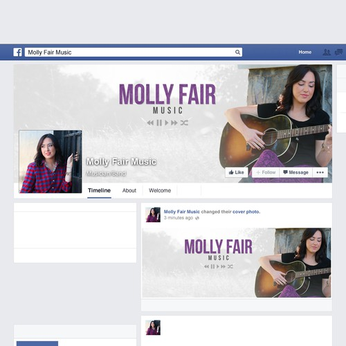 Molly Fair Music - Facebook Banner