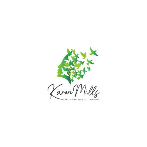 Karen Mills logo