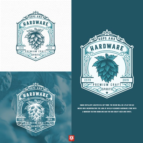 Design a cool label/logo for distillery