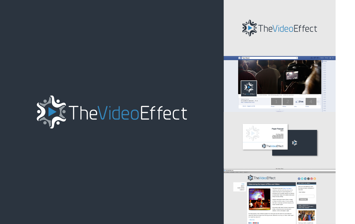 Create a simple and elegant logo design for The Video Effect