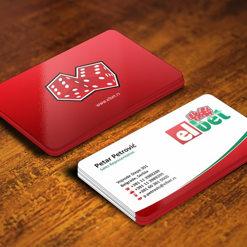 Business card design for Elbet