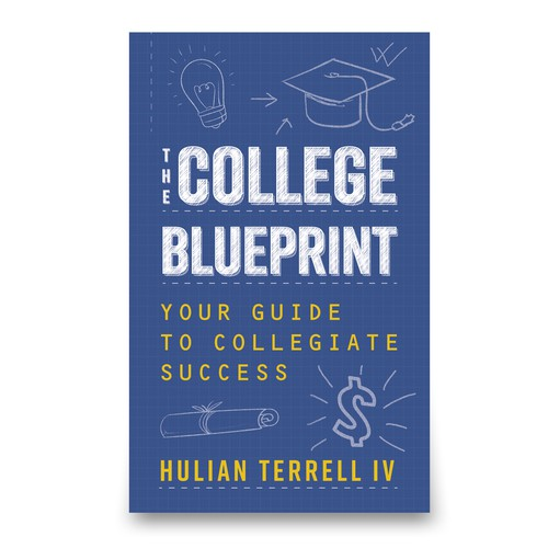 Blue print style book cover.