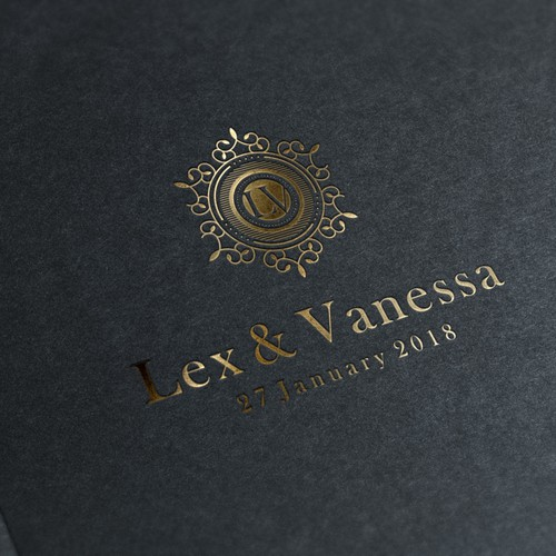 LV initial for Luxury Logo