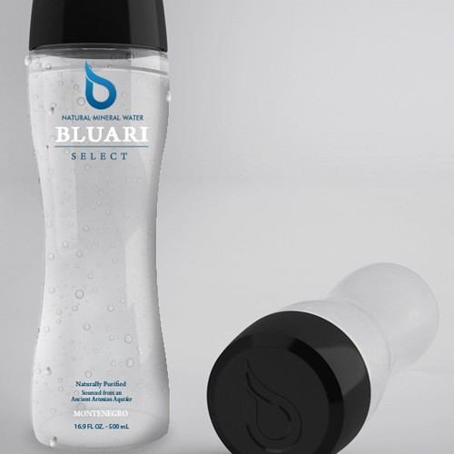 BLUARI WATER  product label