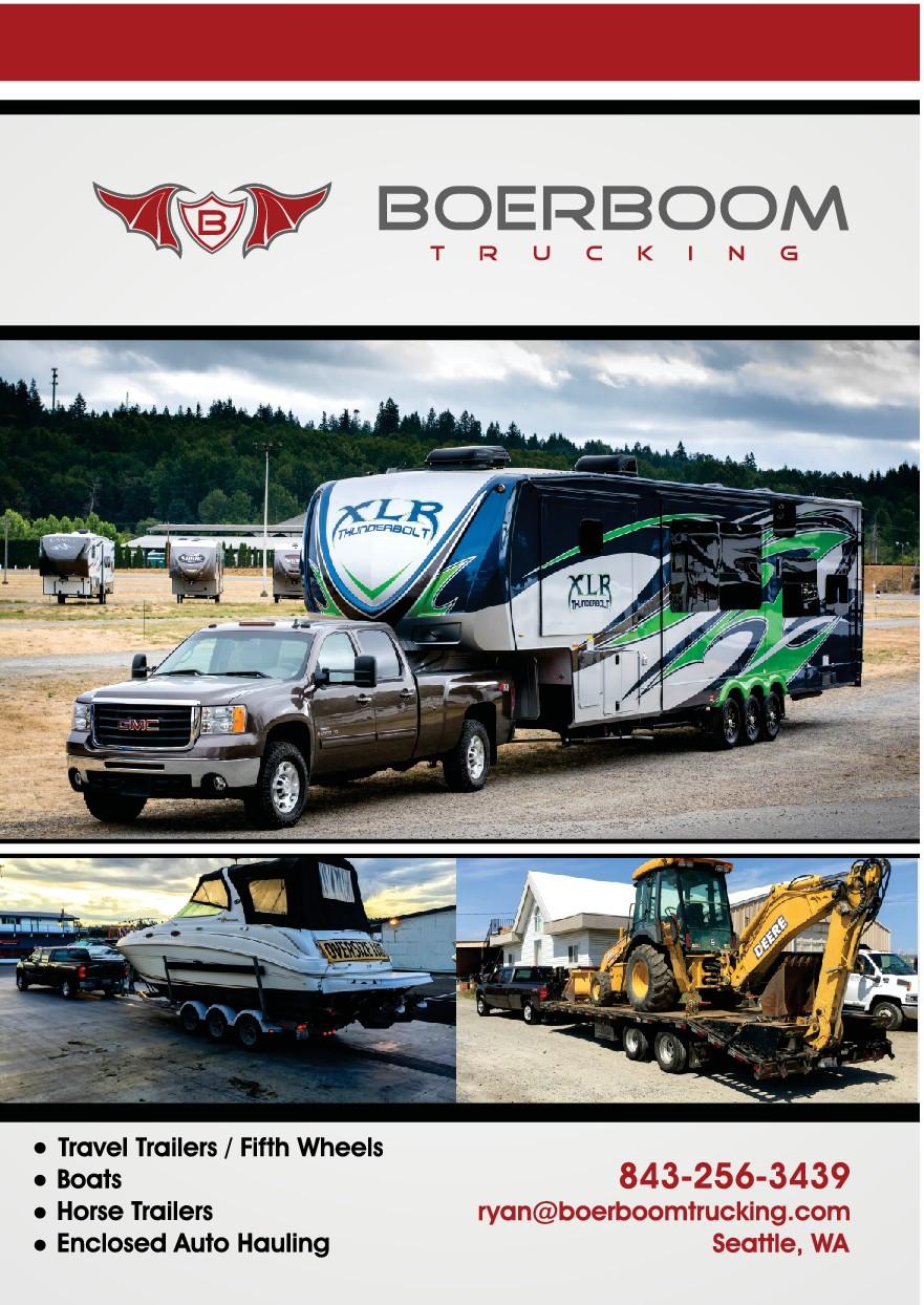 Trucking Flyer, business card & logo