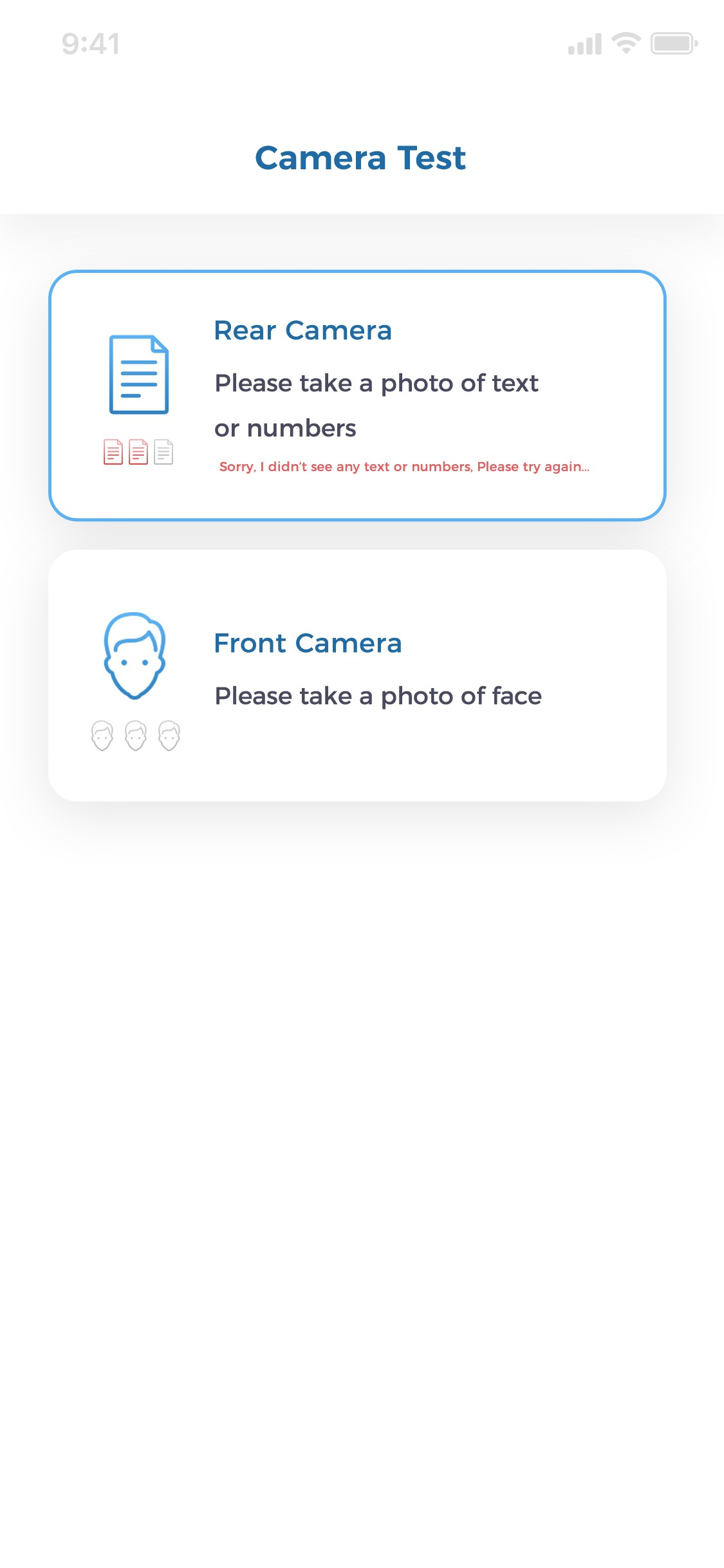 Instant Pay App Test Screens