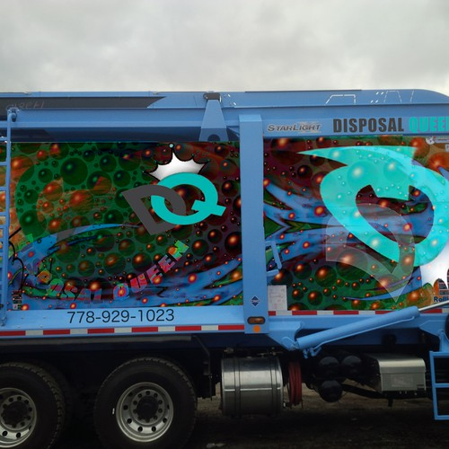 Vehicle wrap entry for Disposal Queen