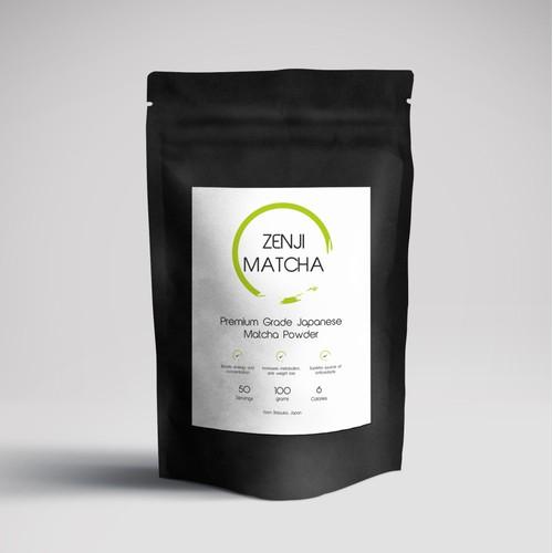 Zen Concept for Tea powder