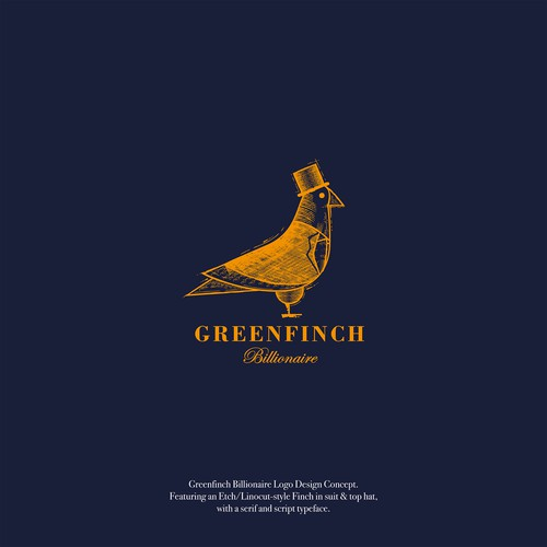 Greenfinch Billionaire Logo Design