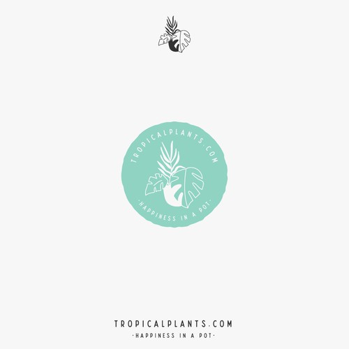 Tropical plants web logo
