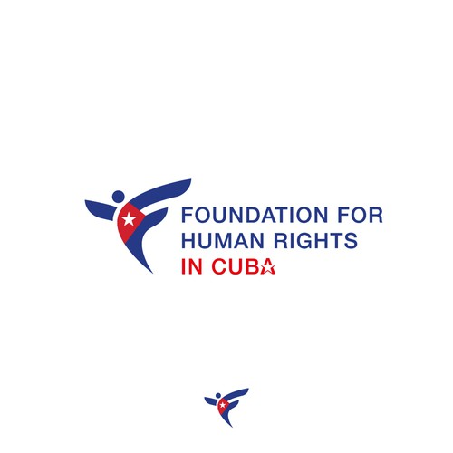 Logo concept for foundation for human rights in Cuba