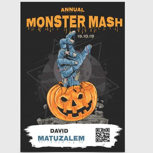 Name Card for Monster Mash
