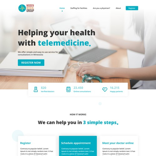 Telemedicine web design