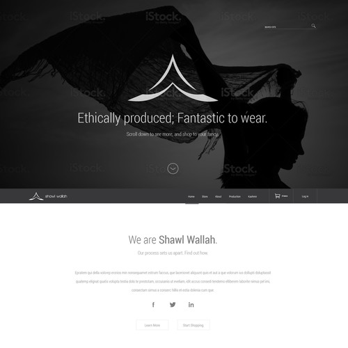 Website Design for Shawl Wallah