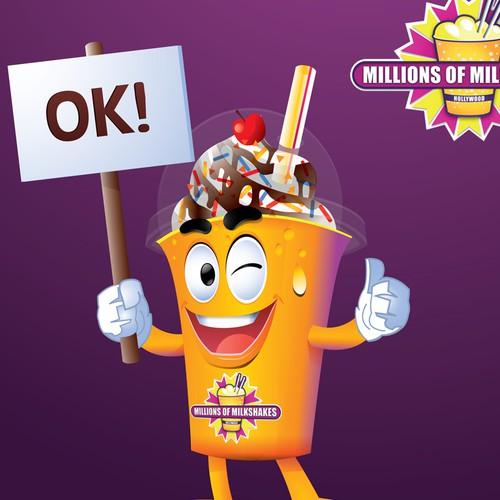 Millions Of Milkshakes Mascot