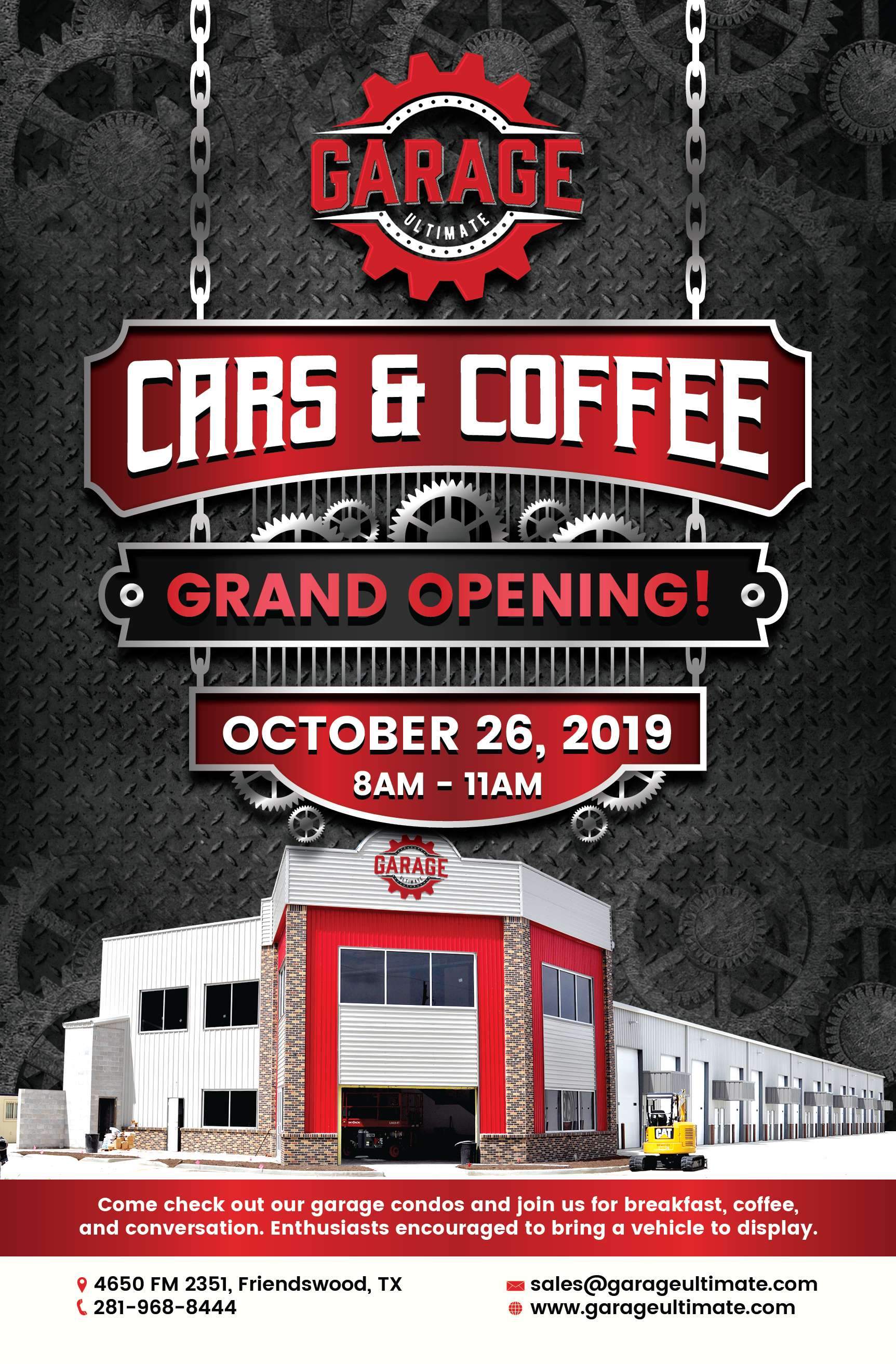 Design Annoucement of Garage Condo Cars & Coffee Grand Opening!