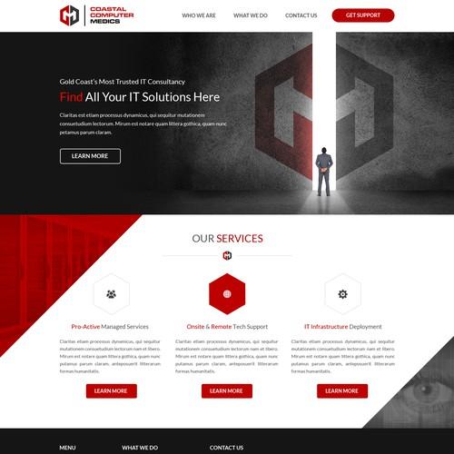Coastal Computer Medics Website Redesign