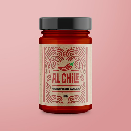 label for Al Chile habanero salsa