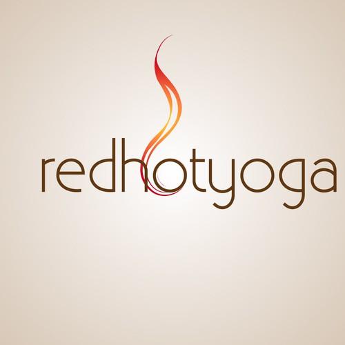 Stylish, bold logo for hot yoga studio