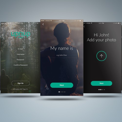 App Design for a Recruitment Platform