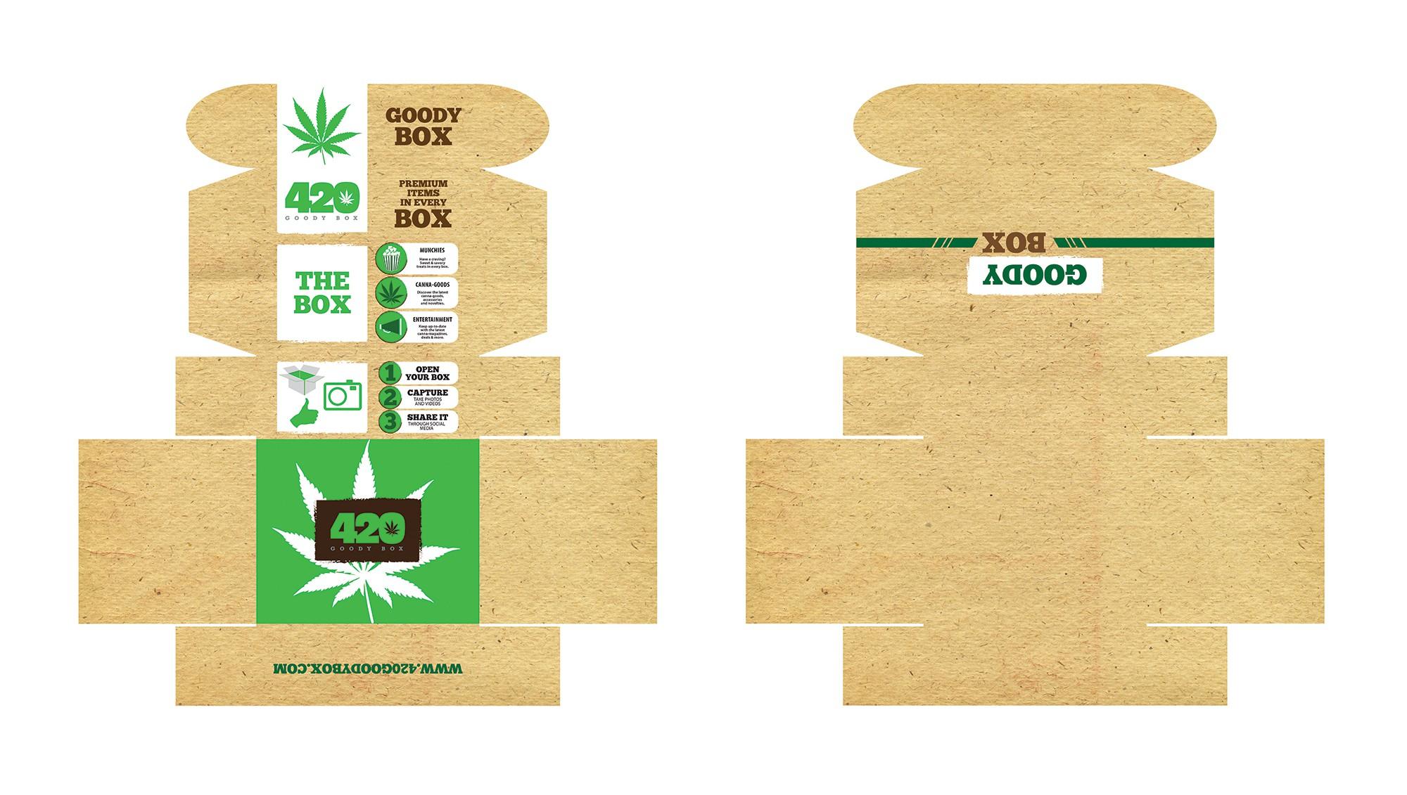 Create a winning box design for 420 Goody Box.