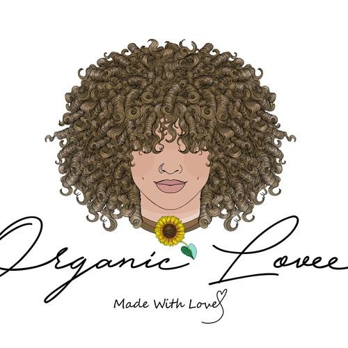 Afro hippie logo design