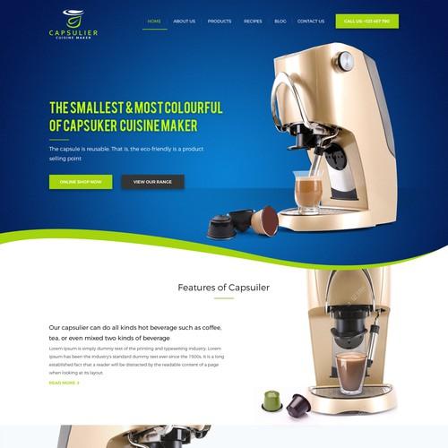 food and drink maker web design