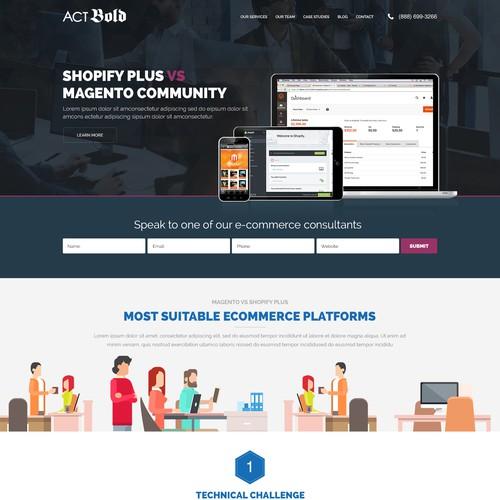Landing Page design for a digital marketing Agency