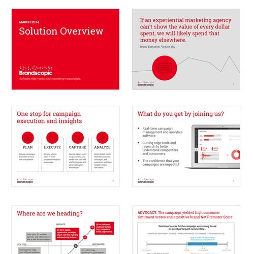 Modern Sales Presentation / Template Desired
