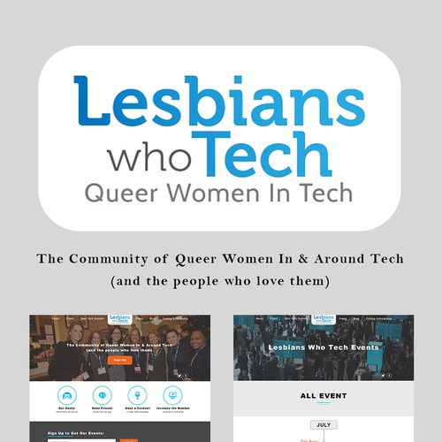 Lesbians Who Tech in Modern, Clear, and Elegant