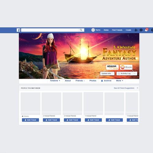 Facebook Banner Fantasy Author Design