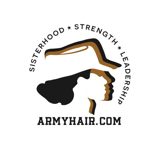 Powerful logo for army hairstyle !