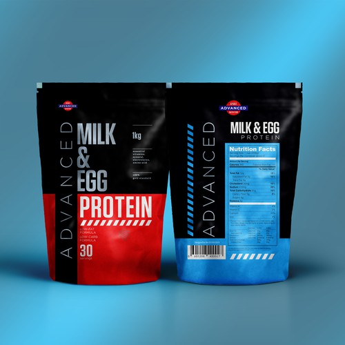 BOLD PROTEIN Packaging design
