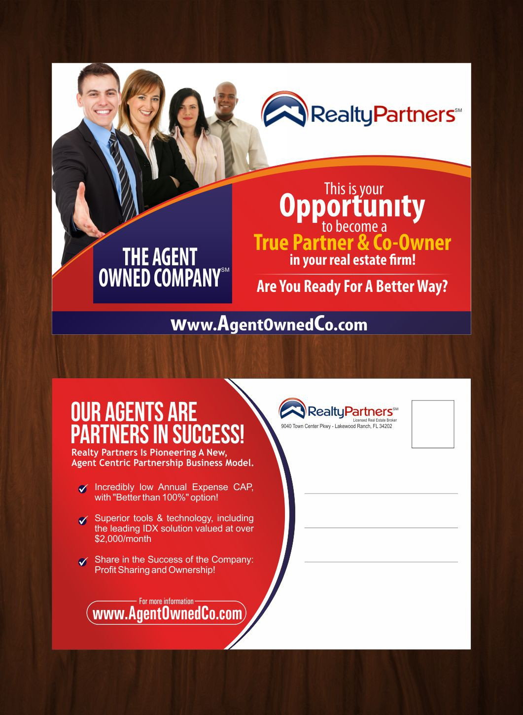Amazing Recruiting Postcard for Real Estate Brokerage Firm