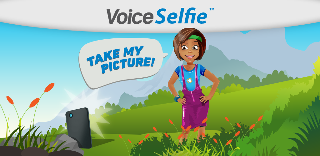 Feature Graphic for 'VoiceSelfie' App