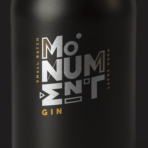 Concept logo for crafted Gin